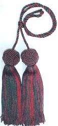 "Multicolor Chair ties 26"" Cord 5"" Tassels"