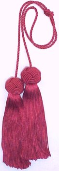 Red Chair tie Cord Chainette Tassels