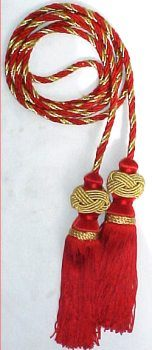 Chair tie Cord with Chainette Turk Knot Tassels