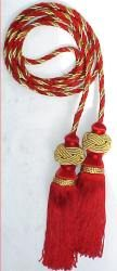 "Chair ties 9' Cord with 8"" Turk Knot Tassels"
