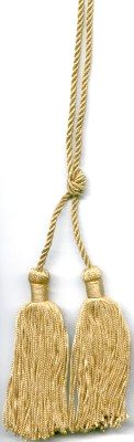 Chair tie Cord with Classic Chainette Tassels