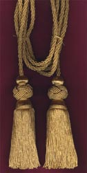 Gold Chair ties with Turk Knot Tassels