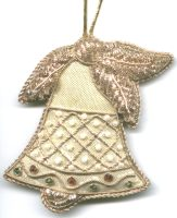 Christmas Gold Bell Ornament