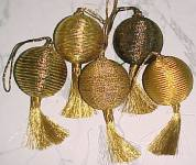 Christmas Ornament with Metallic Gold Tassel