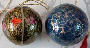 Christmas Assorted Painted Ornaments Paper Mashie Balls