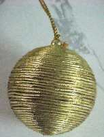 Christmas Metallic Gold Ball Ornament