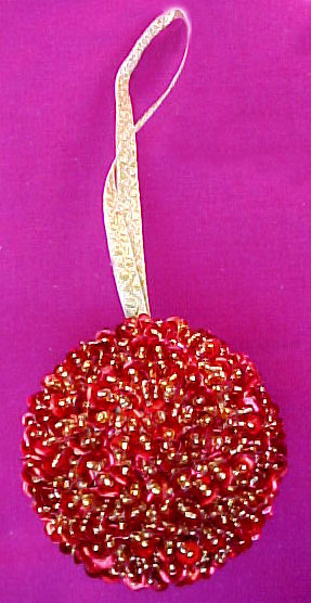 Beaded Ball Ornament