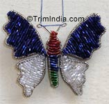 beaded ornaments Beaded Butterfly Ornament