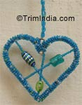 "beaded ornaments 3.5"" Beaded Heart Shaped Ornament"