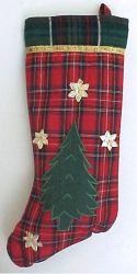 "12"" Plaid Christmas Stocking"