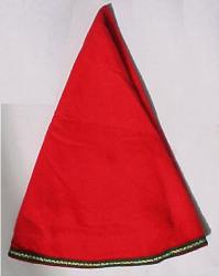"50"" Dia Red Tree Skirt & Table Runner"
