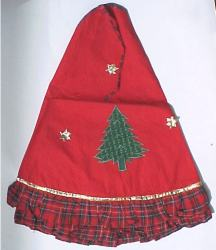 "50"" Dia Red Plaid Tree skirt"