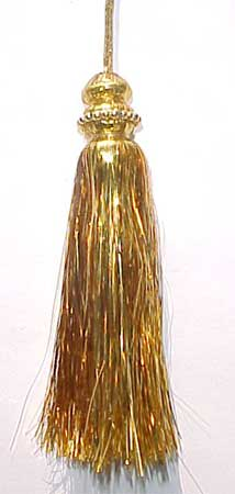 Tinsel Tassel With Gold Beads