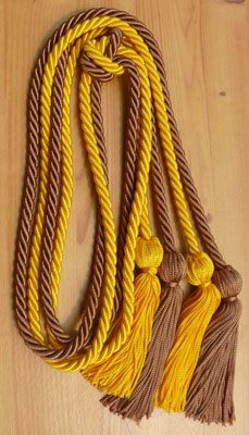 Gold and Copper Double tied honor cord