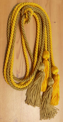 Gold and Special Gold Double Tied honor cord