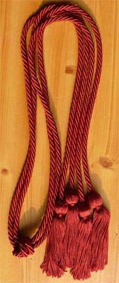 Maroon Double tied honor cord