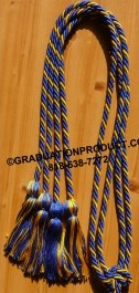Royal blue and gold single honor cord