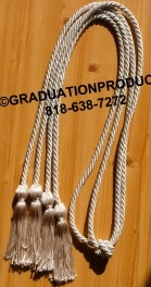 Silver Double Tied honor cord