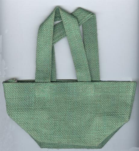 Apple Green Jute Gift Bag