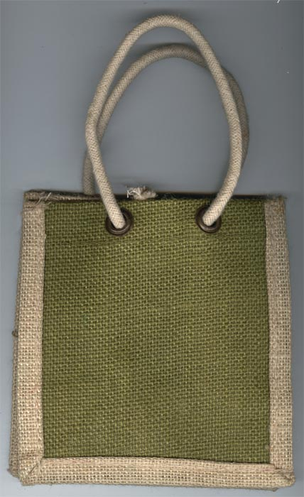 Olive Green with Off White Border Bags