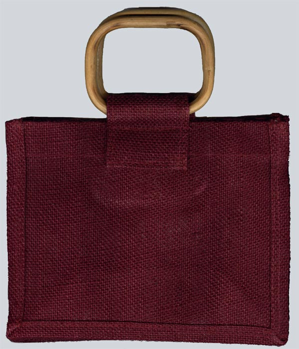 Burgundy Gift Bag with Cane Handle