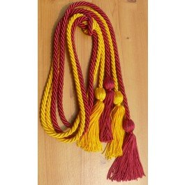 Gold and Hot Pink Double Honor Cord