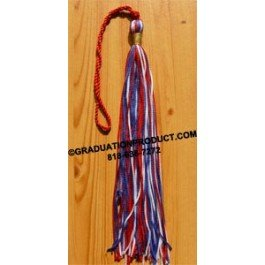 Red White and Blue Graduation Tassel
