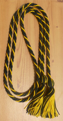 Black and Gold Intertwined Honor Cords