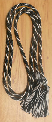Black and Silver Intertwined Honor Cords