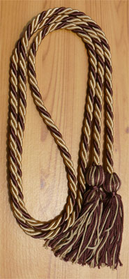 Drab and Brown Intertwined Honor Cords