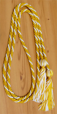 Gold and White Intertwined Honor Cords