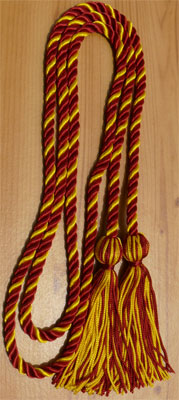 Hot Pink and Gold Intertwined Honor Cords