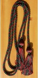 Hunter Green and Maroon Intertwined Honor Cords