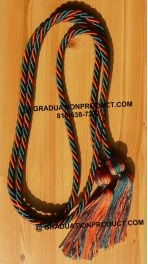 Hunter Green and Orange Intertwined Honor Cords