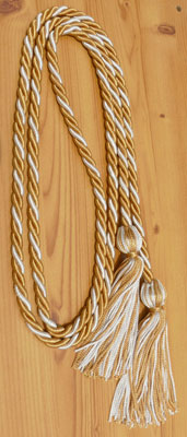 Old Gold and Silver Intertwined Honor Cords