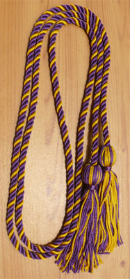Purple and Gold Intertwined Honor Cords