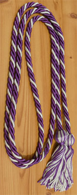 Purple and Silver Intertwined Honor Cords