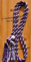 Purple and White Intertwined Honor Cords