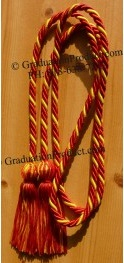 Red and Gold Intertwined Honor Cords