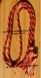 Red and Old Gold Braided Honor Cords