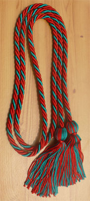 Red and Teal Intertwined Honor Cords