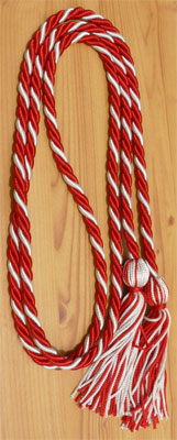 Red and White Intertwined Honor Cords