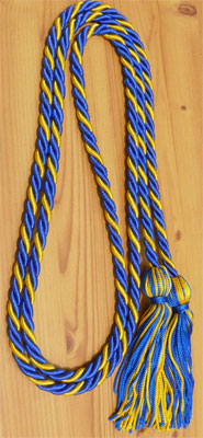 Royal Blue and Gold Intertwined Honor Cords