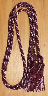 Wine and Lilac Intertwined Honor Cords