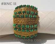 metallic-gold-and-green-beaded-napkin-ring