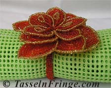 Flower shape Glass Beaded Napkin Ring