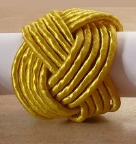 Gold Braid Napkin Rings @ $1.25