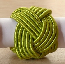 Nile Green Braid Napkin Ring @ $1.25