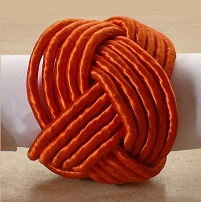 Orange Braid Napkin Ring @ $1.25