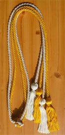 Light Blue and Gold Double tied honor cord